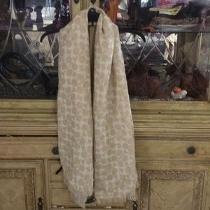 Coach scarf off white. Vintage look.